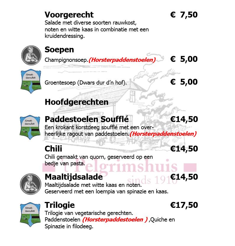 A la Carte Vegetarische Gerechten 2015 website variant