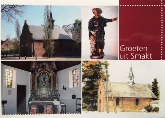 Een mooie Postkaart met daarop afbeeldingen van de St. Jozefkapel. Prijs € 1,00